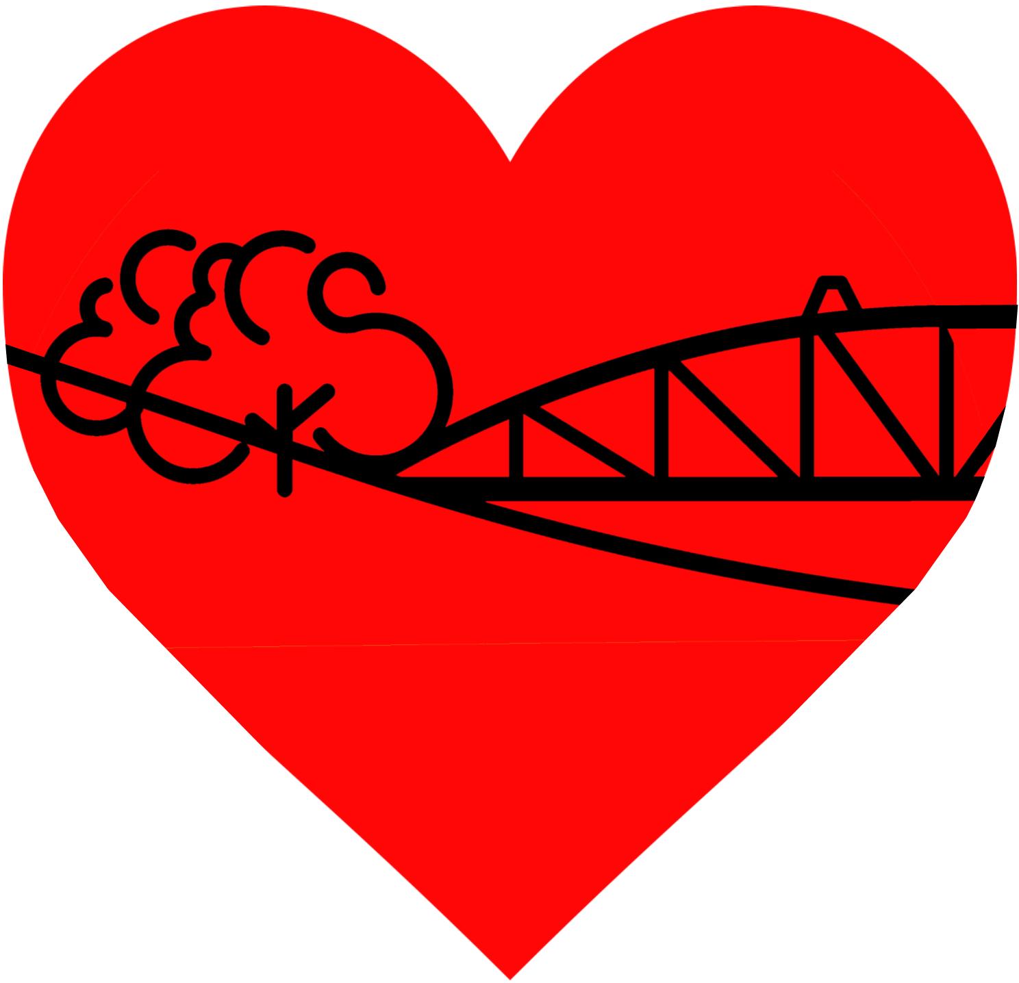 Hjärta med logoutan ram
